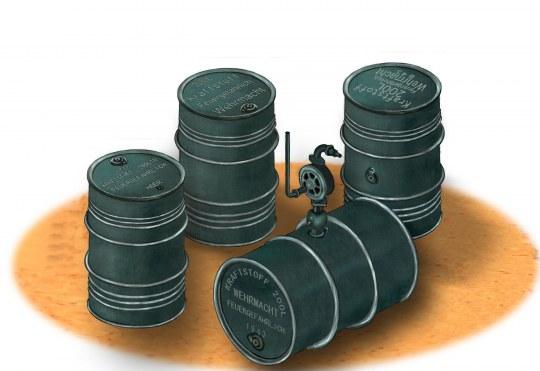 Bronco Models - German WWII 200L Oil Drums