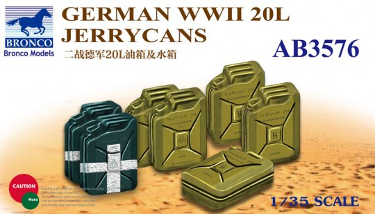 Bronco Models - German WWII 20L Jerrycans
