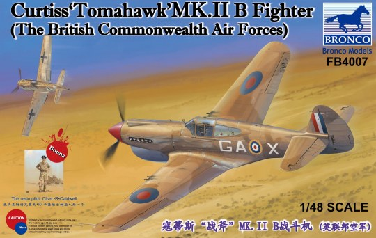 "Bronco Models - Curtiss""Tomahawk'MK.II B Fighter   The British Commonwealth Air Forces)"