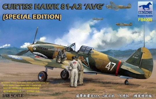Bronco Models - Curtiss Hawk 81-A2'AVG'(Special Edition