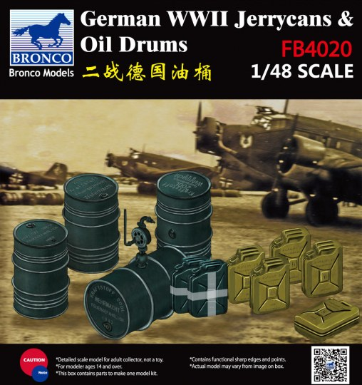 Bronco Models - WWII German Jerry Can & Fuel Drum