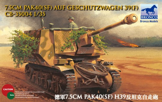 Bronco Models - 7.5cm Pak40(Sf) auf Geschutzwagen 39H(f)