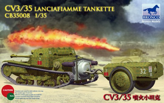 Bronco Models - CV L3/35 Lanciafiamme Tankette