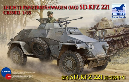 Bronco Models - Sdkfz 221 Armored Car