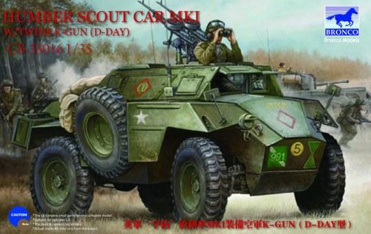 Bronco Models - Humber Scout Car Mk.I w/twin k-gun (D-day version)