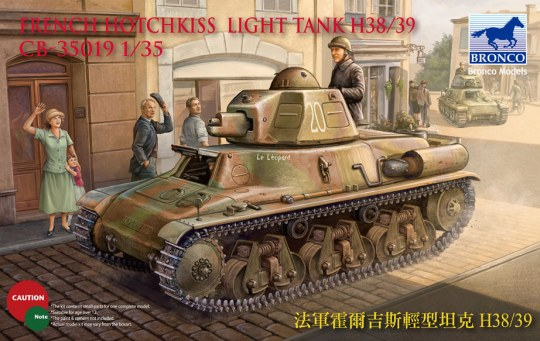 Bronco Models - French H38/39 Light tank ( 2 versions)