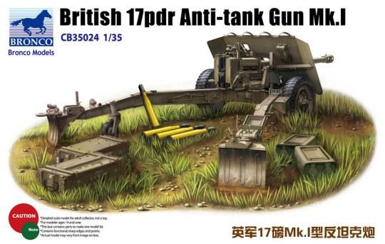 Bronco Models - British 17pdr Anti-tank gun Mk.I