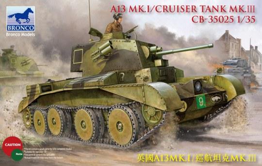 Bronco Models - A13 Cruiser Tank Mk III