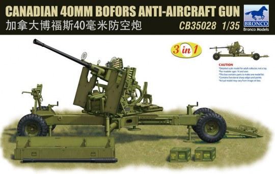 Bronco Models - Canadian 40mm Bofors Anti-Aircraft Gun