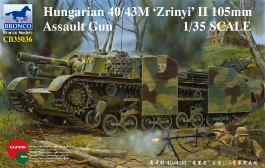 Bronco Models - Hungarian 40/43M Zrinyi II 105mm Assault Gun