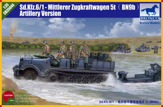 Bronco Models - Sd.kfz 6 5(t) Typ BN9 Artillery Version