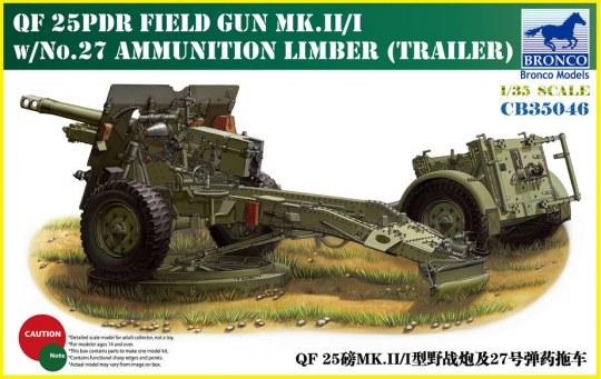 Bronco Models - QF 25pdr Field Gun Mk.II/I