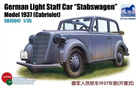 Bronco Models - German Light Staff Car Stabswagen Mod. 1937 (Cabriolet)