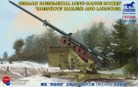 Bronco Models - German Rheinmetall Rheinbote Rakete Rheinbote(Rh.Z.61/9) and launcher