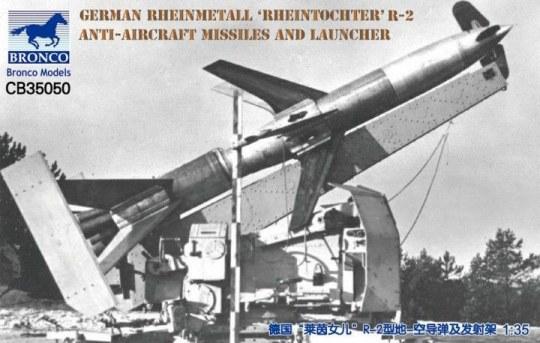 Bronco Models - German Rheinmetall'Rheintochter R-2 anti-aircraft missiles a.launcher
