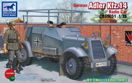Bronco Models - German Adler Kfz.14 Radio Armored Car