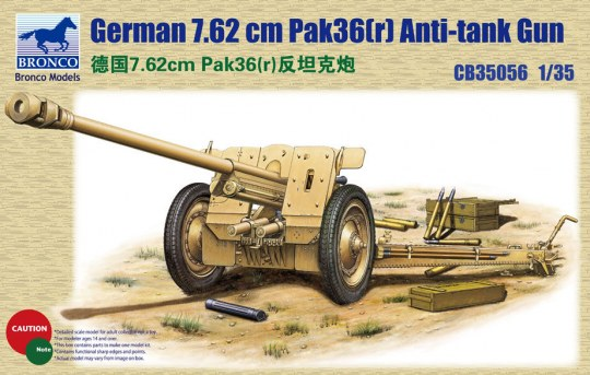 Bronco Models - German 78.2mm Pak36(r)Anti-Tank Gun