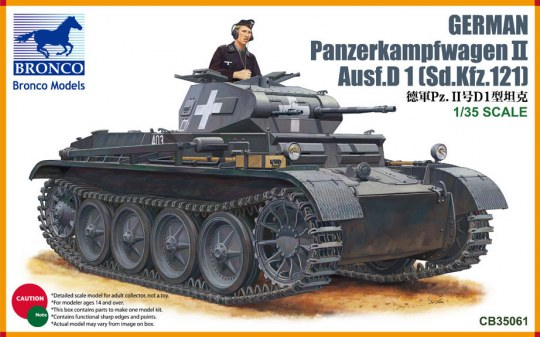 Bronco Models - PanzerKampfwagen II Ausf D1