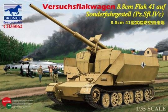 Bronco Models - Versuchsflakwagen 8.8cm Flak 41 auf Sonderfahrgestell (Pz.SFL.IVc)