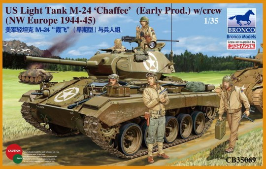 Bronco Models - US Light Tank M-24 Chaffee (WWII Prod.)