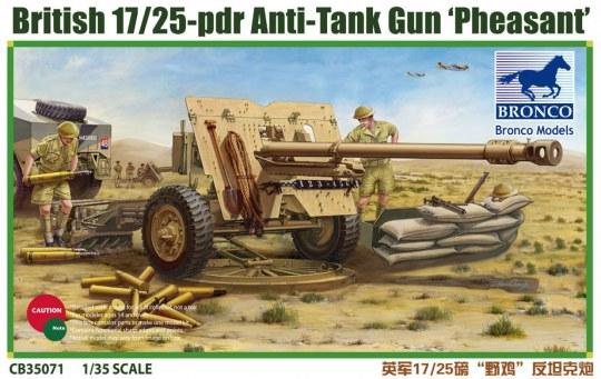 Bronco Models - British 17/25 pdr Anti-Tank Gun PHEASANT