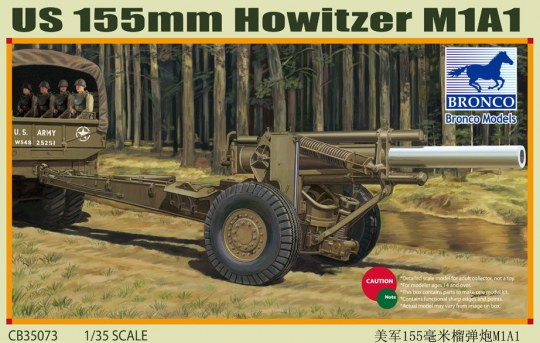 Bronco Models - US M1A1 155mm Howitzer (WWII)