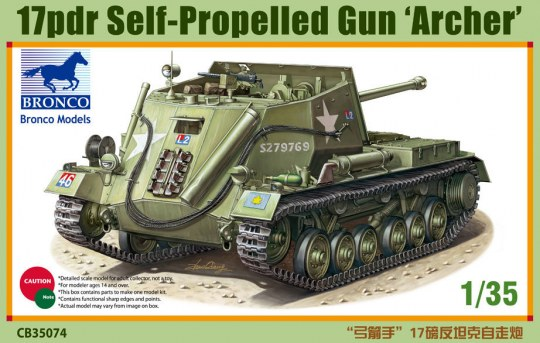 Bronco Models - 17pdr Self-Propelled Gun Archer