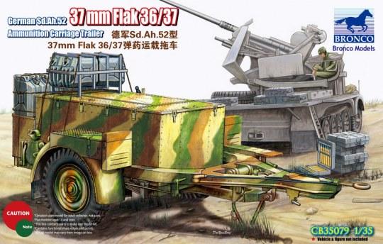 Bronco Models - German Sd.Ah.52 37mm Flak Ammunition Carriage Trailer