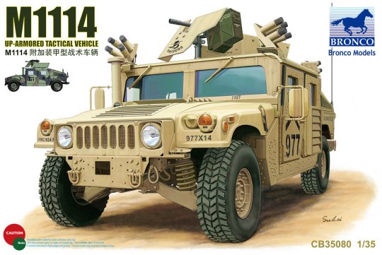 Bronco Models - M1114 Up-Armored Tactical Vehicle