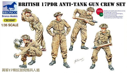 Bronco Models - 17pdr Anti-Tank Gun Crew Set