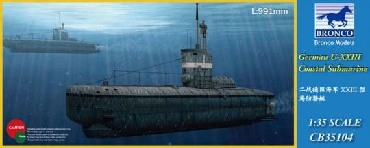Bronco Models - German U-XXIII Coastal Submarin