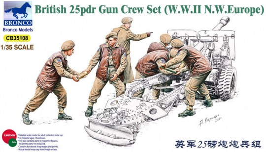 Bronco Models - 25pdr Gun Crew Set