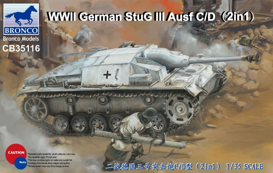 Bronco Models - WWII German StuG III Ausf C/D with 75mm StuK 37/L24&75mm StuK40/L48(2in1)