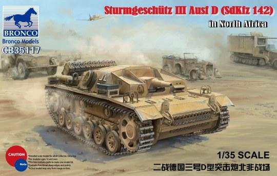 Bronco Models - WWII German Assault Gun SturmgeschützIII Ausf D (SdKfz 142) in El Alamein