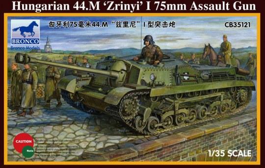 Bronco Models - Hungarian 75mm Assault Gun 44.M Zrinyi I