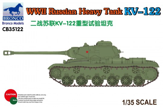 Bronco Models - WWII Russian Heavy Tank KV-122