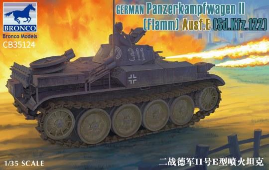 Bronco Models - German Panzerkampfwagen II Flamm Ausf. E (Sd.Kfz. 122)