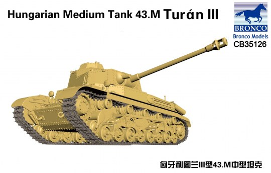 Bronco Models - Hungarian Medium Tank 43.M Turan III