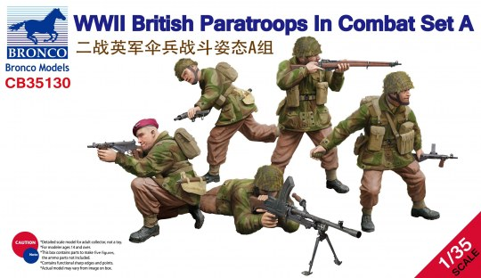 Bronco Models - WWII British Paratroops in Combat Set A