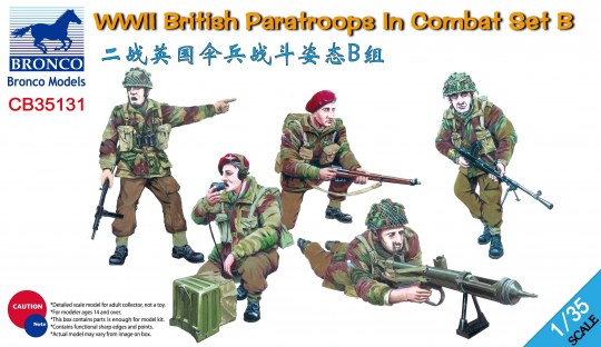 Bronco Models - WWII British Paratroops in Combat Set B