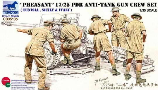 Bronco Models - 17/25 pdr Anti-Tank Gun Crew Set