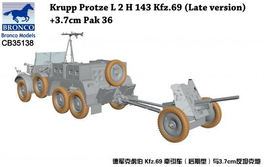 Bronco Models - Krupp Protze L 2 H 143 Kfz.69(Late versi +3.7cm Pak 36