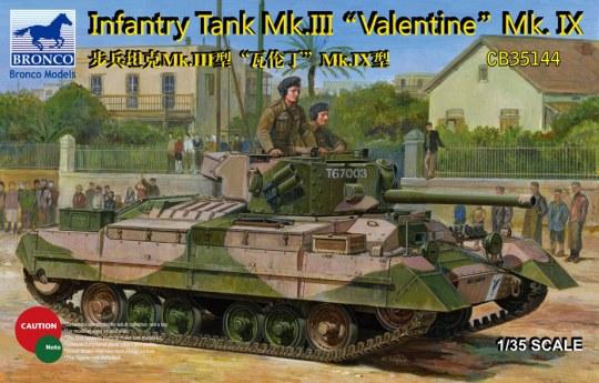 Bronco Models - Infantry Tank Mk.III Valentine Mk.IX