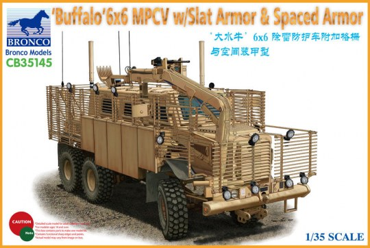 Bronco Models - BUFFALO 6x6 MPCV w/Slat Armor & Spaced Armor Version