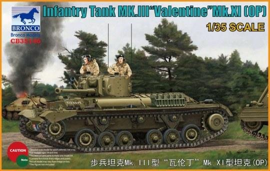 Bronco Models - Infantry Tank Mk.III Valentine Mk.XI(OP)
