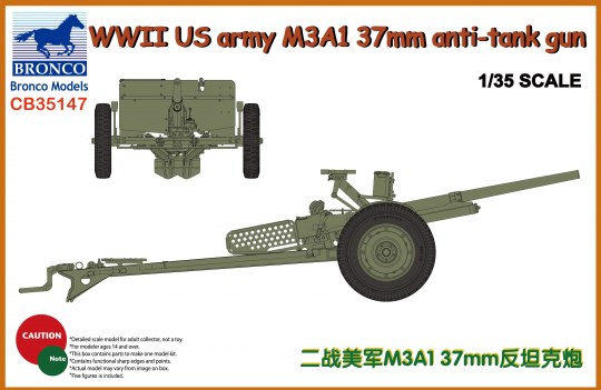 Bronco Models - WWII US Army M3A1 37mm Anti-Tank Gun