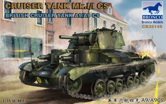 Bronco Models - Cruise Tank Mk.I/ICS British CruiserTank A9/A9CS