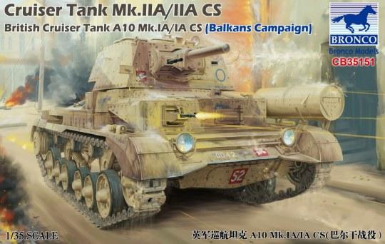 Bronco Models - Cruiser Tank Mk.IIA/IIA CS British Cruis Tank A10 Mk.IA/IA CS(Balkans Campaign