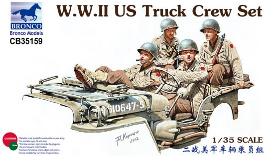 Bronco Models - WWII US Truck Crew Set