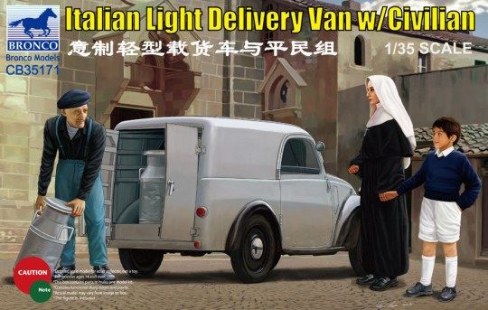 Bronco Models - Italian Delivery Van w/civilian